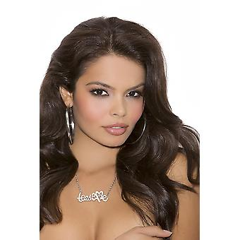 Elegant Moments EM-J1252 Tease Me necklace with rhinestone detail