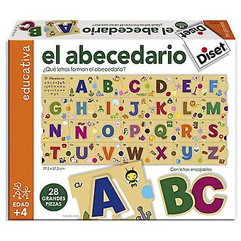 Diset Puzzle To learn the alphabet (Toys , Boardgames , Puzzles)