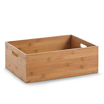 Bamboo Stackable Storage Box with Handles