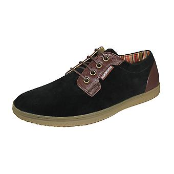 Lambretta Rico Mens Casual Trainers / Shoes - Black