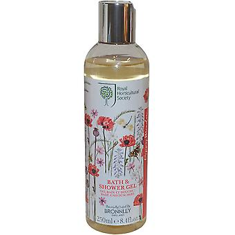 The Royal Horticultural Society Poppy Meadow Bath and Shower Gel 250ml