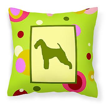 Carolines Treasures  CK1003PW1414 Airedale Decorative   Canvas Fabric Pillow