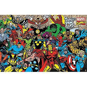 Marvel Retro-Line-Up Poster Plakat-Druck