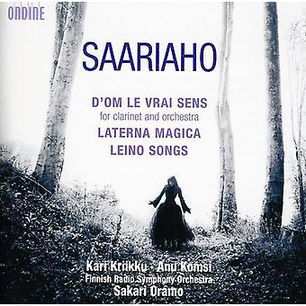 Kaija Saariaho - Kaija Saariaho: D'Om Le Vrai Sens; Laterna Magica; Leino Songs [CD] USA import