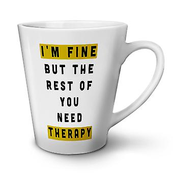 Brauchen Therapie neue weißer Tee Kaffee Keramik Latte Becher 17 oz | Wellcoda