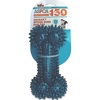 ASPCA Squeaky Spiked Bone Dog Toy-Blue AS11124-BLUE