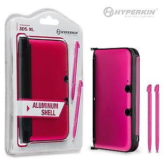 3ds XL aluminium Shell med 2 Stylus penne (Pink)