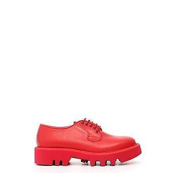 Leather Crown women's MCBI185029O red leather lace-up shoes