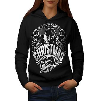 Gingle Bells Christmas Women BlackHoodie | Wellcoda