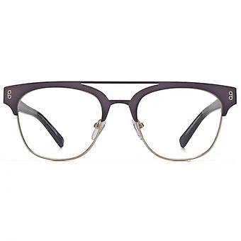 Hook LDN Faraway Stainless Steel Browline Glasses In Gunmetal