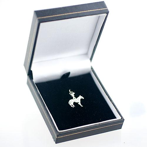 Silver 24x19mm Standing Horse Charm on a lobster trigger