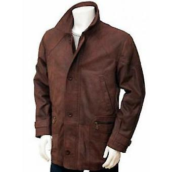 Bagan Mens Leather Coat
