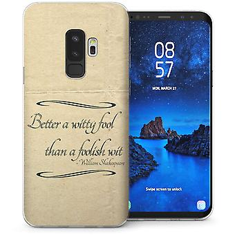 Samsung Galaxy S9 Plus Shakespeare cita TPU Gel caso – bianco
