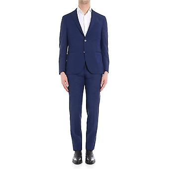 The Gigi DEGAS2H220705 Blau mens wool suit