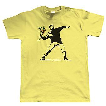 Flower Thrower, Mens T Shirt