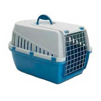 Axis-Biozoo Blue Plastic Carrier for Small Dogs and Cats