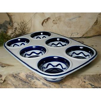Baking pan, 29 x 20 x 4 cm, with 6 holes, tradition 29, ceramic tableware, BSN 21613