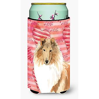 Love a Rough Collie Tall Boy Beverage Insulator Hugger