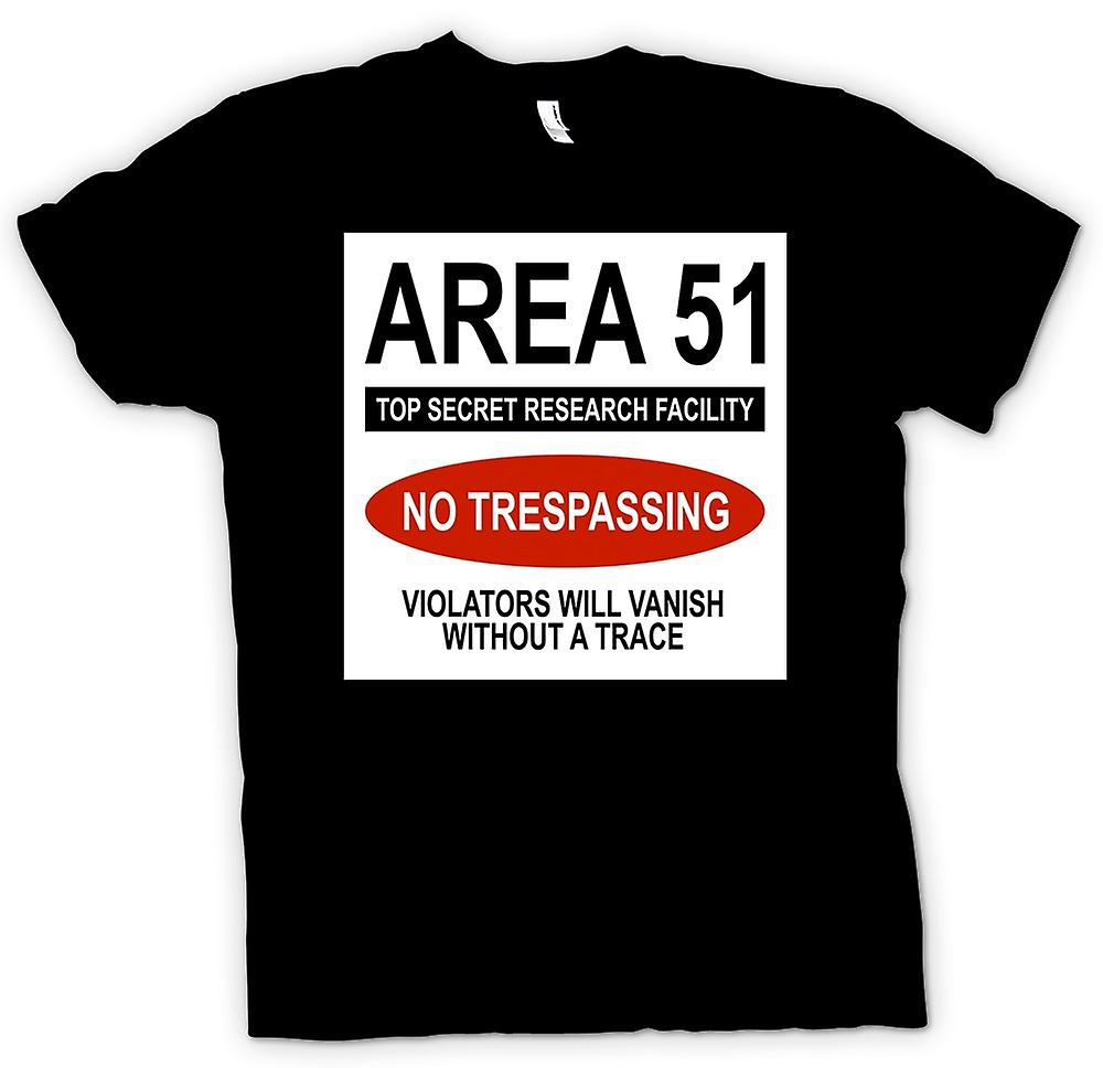 Womens T-shirt - Area 51 - UFO - Trespasser Will Vanish