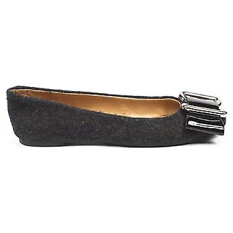 Nine West Womens Ballerina Nwlalia Dkgrey Blk