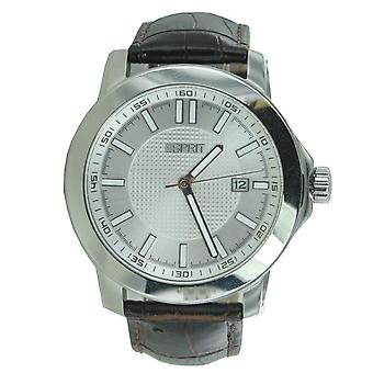 ESPRIT mens watch wristwatch Moon Ray leather ES101851011