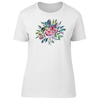 Floral And Leaf Bouquet Tee Women's -Image by Shutterstock