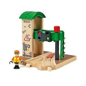 BRIO Signal Station 33674 Wooden Railway Track Accessory