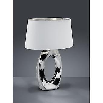 Trio Lighting Taba Modern Silver Ceramic Table Lamp