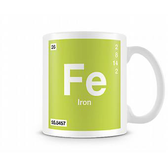 Element Symbol Fe 026 - Iron Printed Tasse