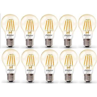 20 X Energizer LED Filament GLS Light Bulb Lamp Vintage ES E27 Clear 4.2W = 40W ES E27 Cap[Energy Class A+]