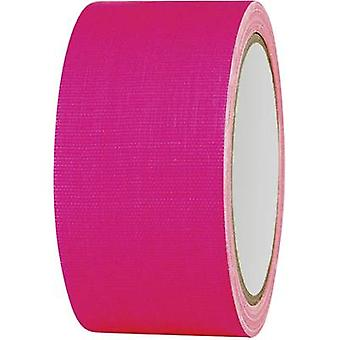 Cloth tape 80FL5025PC Neon pink (L x W) 25 m x 50 mm TOOLCRAFT