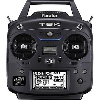 Futaba T6K Handheld RC 2,4 GHz No. of channels: 6 Incl. receiver