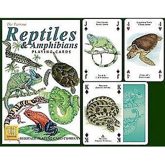 Reptielen en amfibieën Set van 52 speelkaarten (+ Jokers)