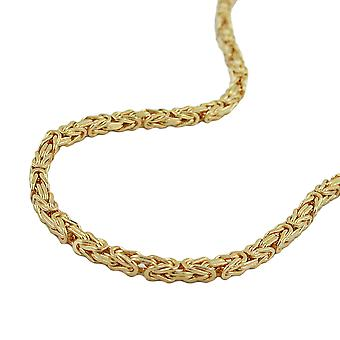 King 3x3mm chain square diamantiert AMD gold plated 50 cm