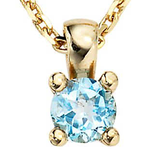 Trailer 333 /-g-Blue Topaz pendants, Blue Topaz, gold Blue Topaz pendant gold