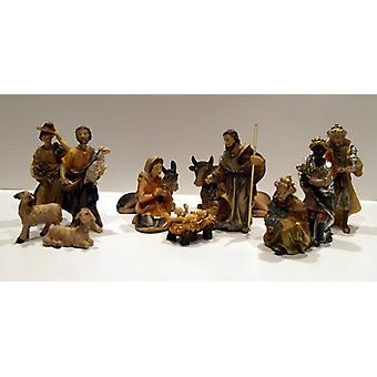 Nativity figurines 12 PCs. Set synthetic resin Nativity scene figures MARIA 8 cm
