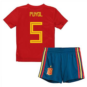 2018-19 Spain Home Mini Kit (Puyol 5)