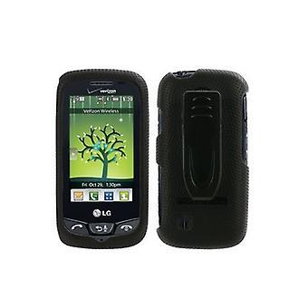 Verizon - Body Glove Snap-On Case voor LG VN270 kosmos Touch - zwart