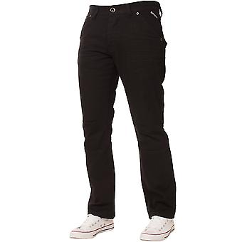 Mens Regular Fit Black Denim Jeans | Enzo Designer Menswear
