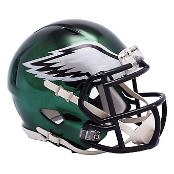 Riddell Mini Football Helm - NFL CHROME Philadelphia Eagles