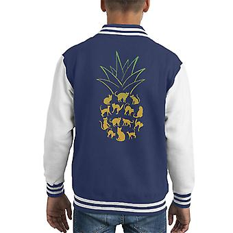 Cat Pineapple Kid's Varsity Jacket