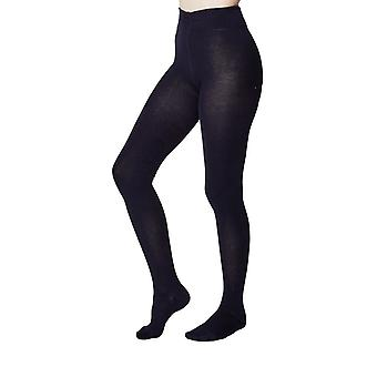 Elgin women's super-soft warm bamboo tights in dark navy |  By Thought