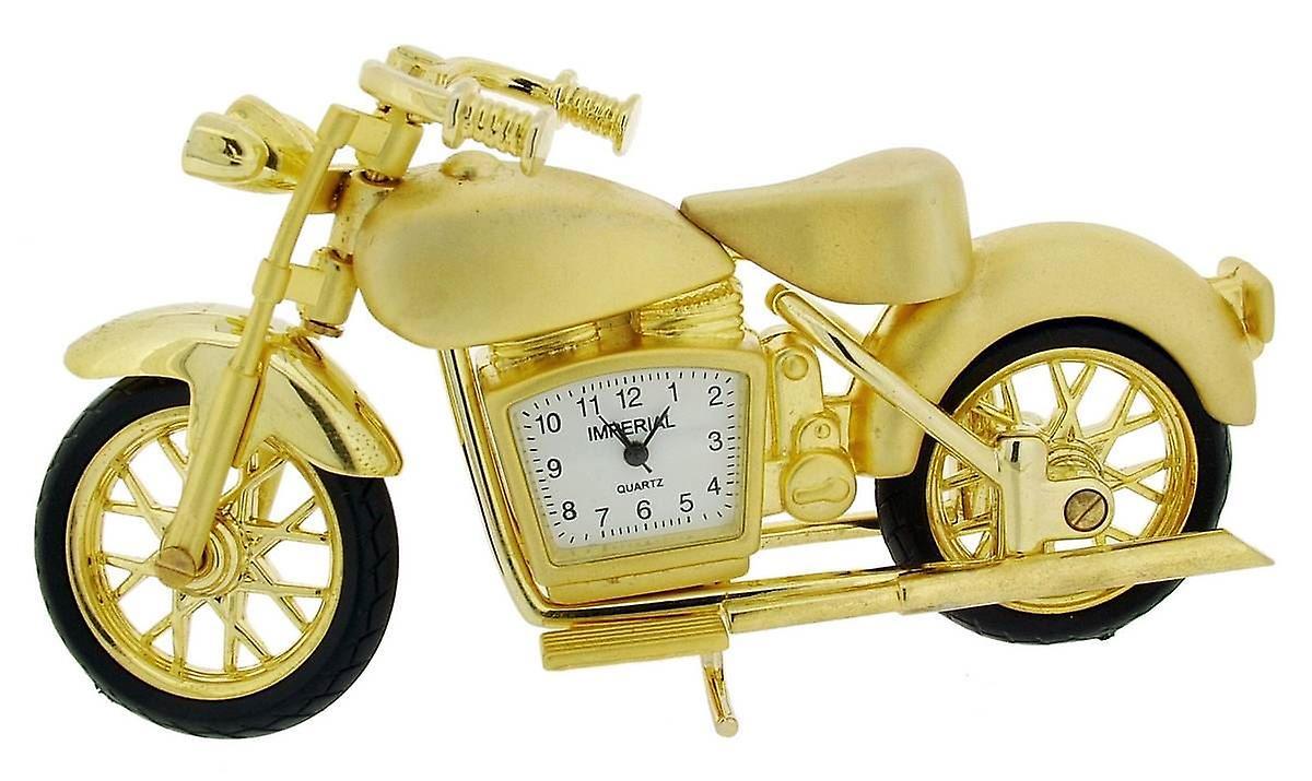 Gift Mini Vintage Motorbike black Products ClockGold Time 80OkXPwNn