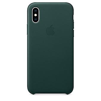 Apple iPhone Ledertasche XS - Forest Green