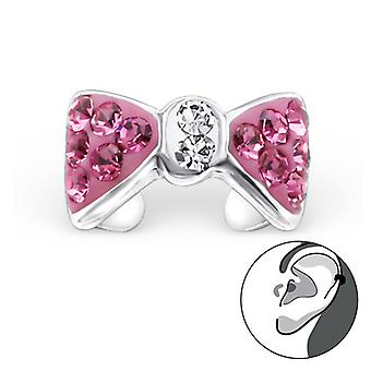 Bow - 925 Sterling Silver Ear Cuffs - W22901x