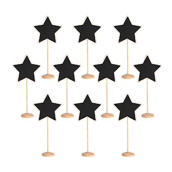 TRIXES 10PCS Star Table Chalkboards on stand Rustic Decorative Table Placemats