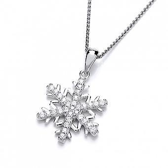 Cavendish Français Cubic Zirconia Snowflake pendentif sans chaîne