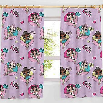 ¡L.O.L. sorpresa! JAJAJA Glam cortinas rosa 168 x 183 cm