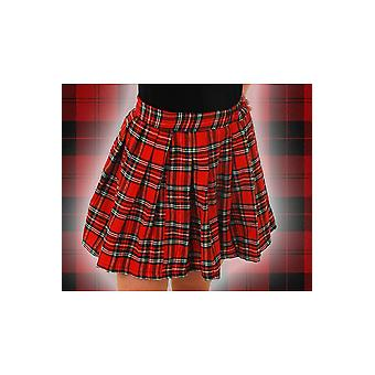 Women costumes  Checked pleated skirt