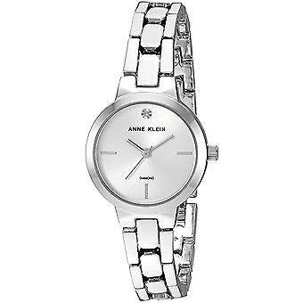 Anne Klein Diamond-Accented Silver-Tone Ladies Watch AK-3235SVSV